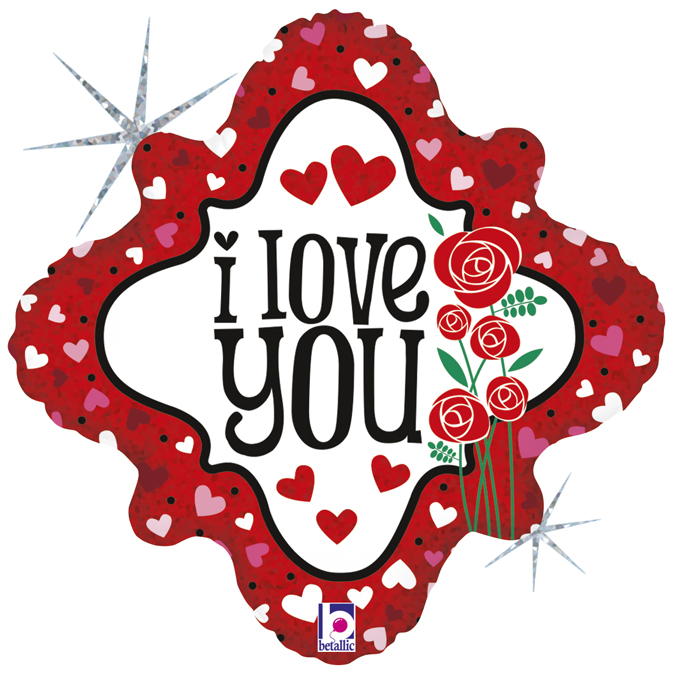 36206H-I-Love-You-Hearts-&-Roses - Grabo Balloons