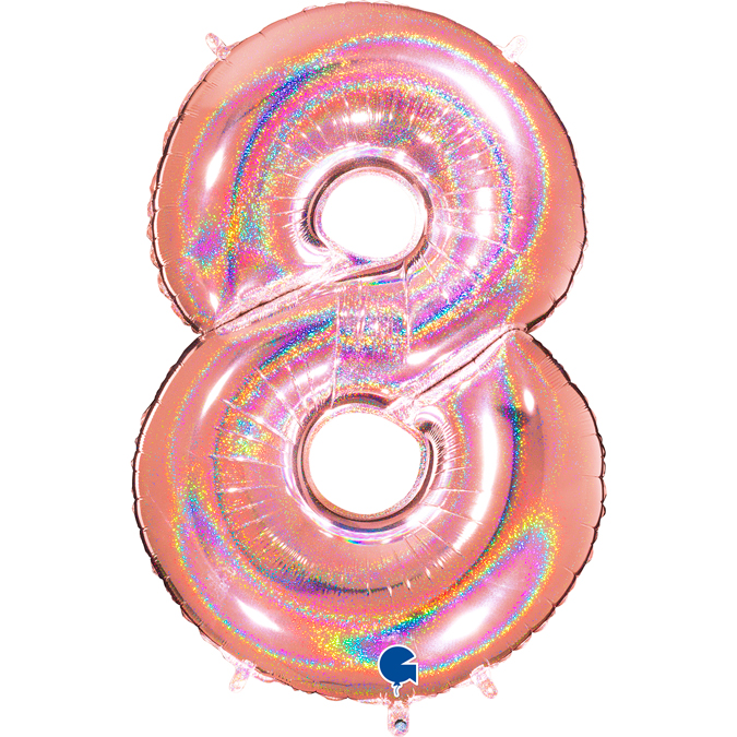 Holographic Balloon Party Balloon 40 Silver Holographic Number 5 Balloon